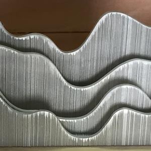 Curves combed plywood