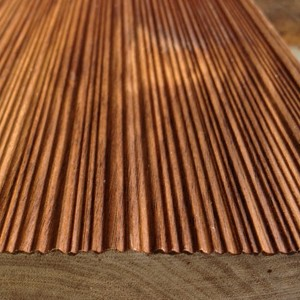 combed solid walnut