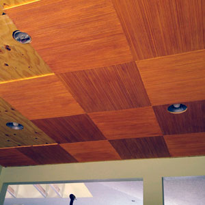 wooden ceiling tiles