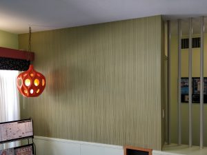 accent wall of weldtex - Mid-century modern accent walls