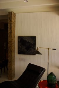 Combed accent wall, Kirk Douglass Estate